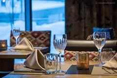 Tischgedeck im Restaurant Twist
