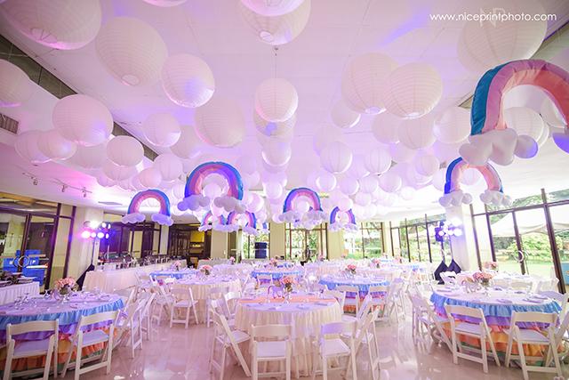 unicorn theme party ceiling
