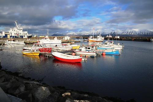 iceland islandia dalvik eyjafjordur port puerto boats barcos sea mar canon eos6d canoneos