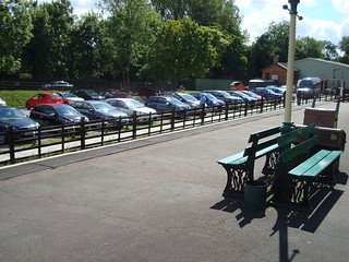 GWR benches on the platform at Rothley on the Great Central Railway