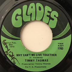 TIMMY THOMAS:WHY CAN'T WE LIVE TOGETHER(LABEL SIDE-A)