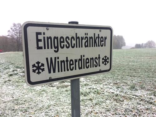 Schneefall - Tagebuch Fahrtest 2017/18