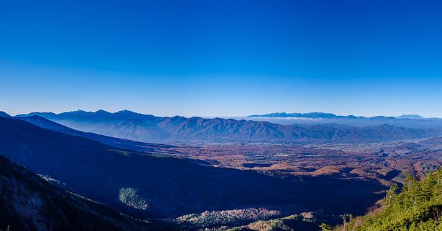 南アルプス・中央アルプス・御嶽山@第一展望台
