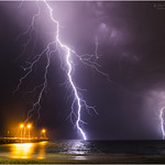 12. November 2017 - 20:30 - Lightning over Woodman Point Ammo jetty, Coogee beach, South of Fremantle, Western Australia This was one of several powerful storm cells that cane in over the south west coast of Western Australia last night. On the jetty the fishermen continued casting their lines, ignoring what was happening out to sea! www.cloudtogroundimages.com m.facebook.com/cloudtogroundimages/