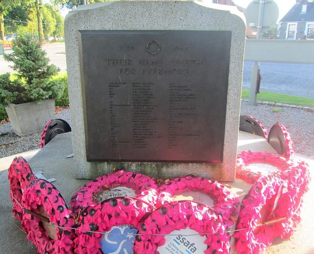 Castle Douglas War Memorial WW2 Dedication and Names