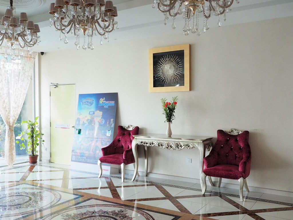 The European style lobby of the hotel