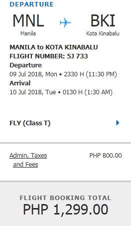 Manila to Kota Kinabalu Promo July 9, 2018