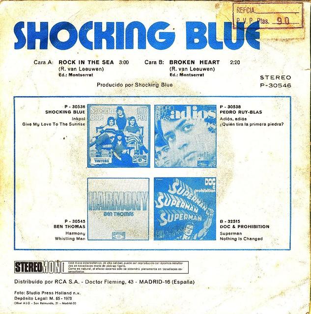 Shocking Blue - Rock In The Sea - Spain - 1972-