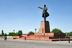 Lanin's statue in Osh is the largest in Central Asia