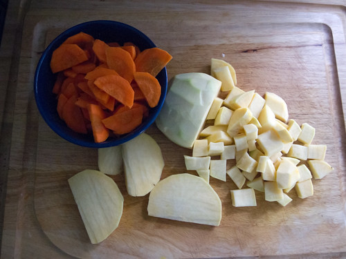 Carrots & swedes, chopped