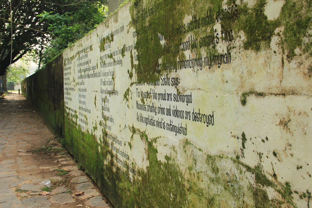 The writing on the wall, Fort Cochin