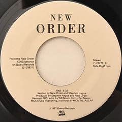 NEW ORDER:TRUE FAITH(LABEL SIDE-B)