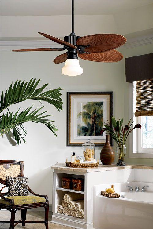 under light ceiling fans