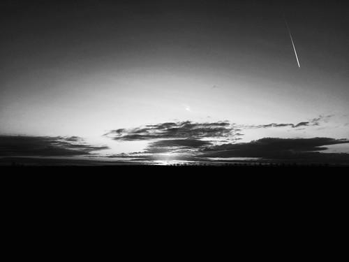 Morgenstimmung in schwarz-weiß