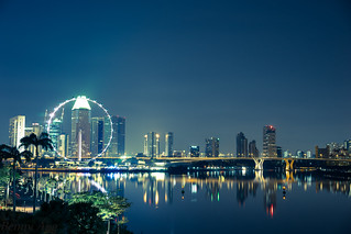 Singapore Flyer night view