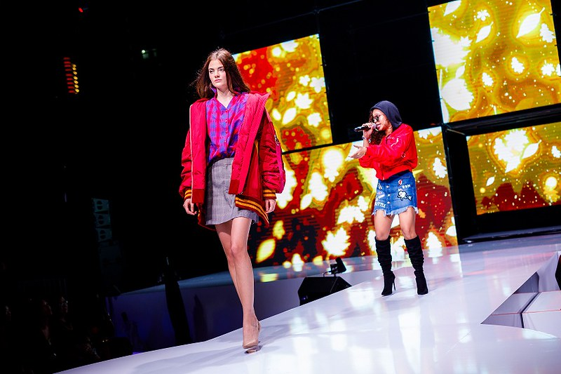 Zamaera performing as a ONLY model walks the runway