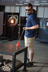 St Petersburg, FL - Morean Glass Studio and Hot Shop - Glass Blowing Demonstration