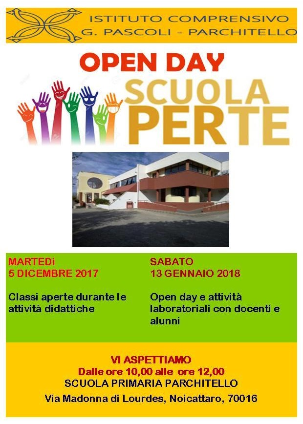 Noicattaro. Open Day Parchitello primaria intero