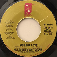 McFADDEN & WHITEHEAD:AIN'T NO STOPPIN' US NOW(LABEL SIDE-B)