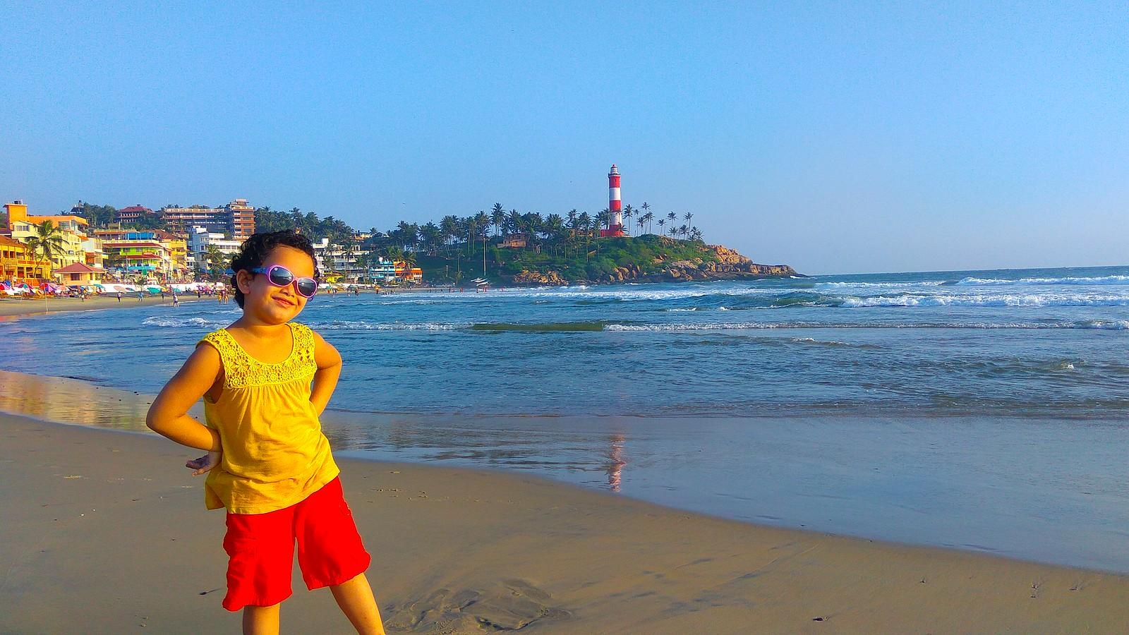 Kovalam lighthouse beach