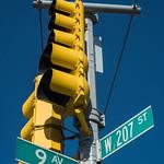 9 AV and W 207 St Street Signs, Inwood, New York City