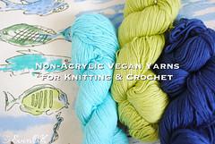 non acrylic vegan yarns for knitting and crochet