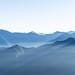 Hazy blue mountain of Zhushan mountain in Taiwan