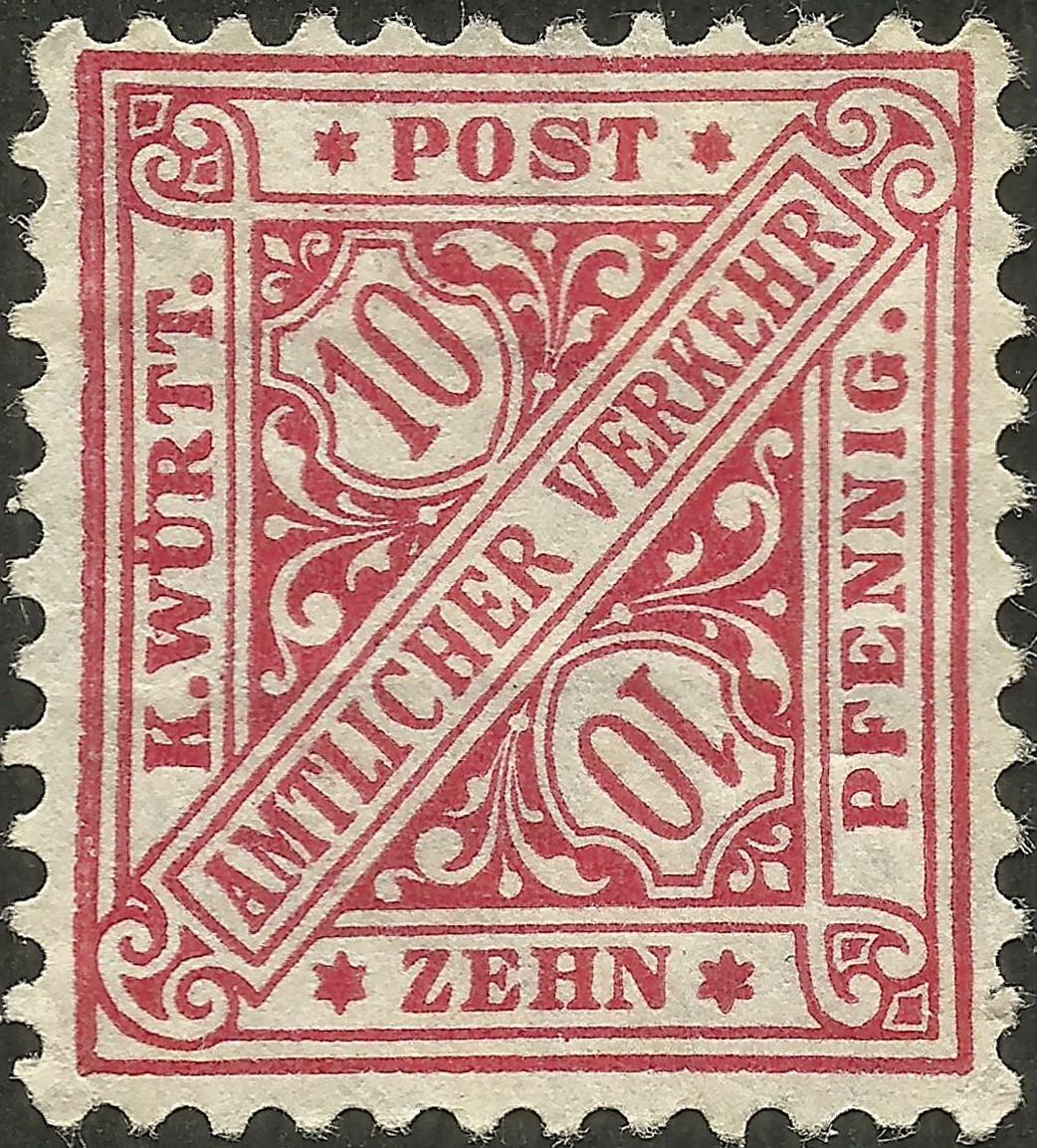 Wurttemberg - Scott #O99 (1881)