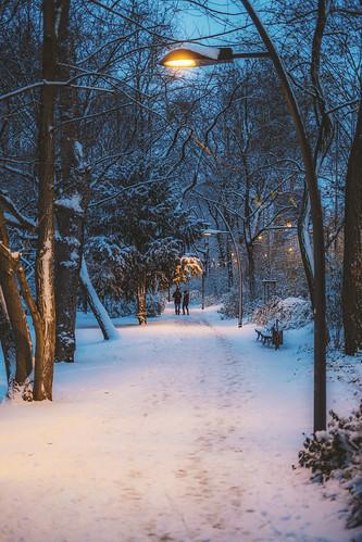 Snow in Frankfurt - Fujifilm X-T2