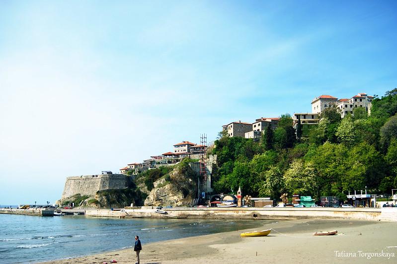 Вид на Старый город с Малого пляжа