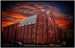 Washington DC - Calvary Baptist Church - Sunset -  Historic Building