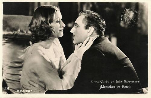 Greta Garbo and John Barrymore in Grand Hotel