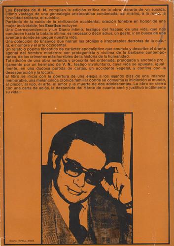 17k23 Contra Portada primera edición Escritos de VN Uti 385