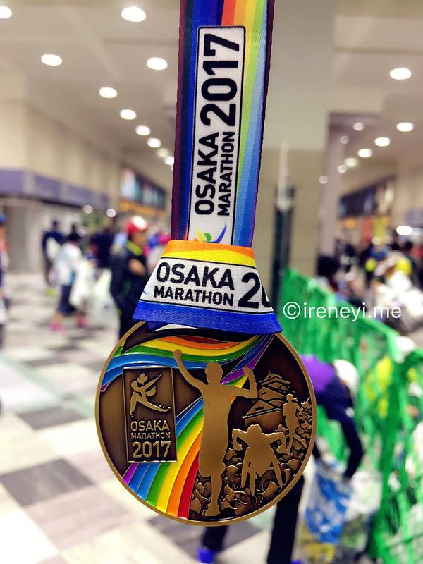 大阪馬拉松2017獎牌