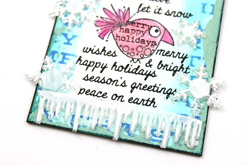 Meihsia Liu Simply Paper Crafts Quick and Easy Christmas Gift Tag Simon Says Stamp Paper Artsy Prima Flower Tim Holtz 5