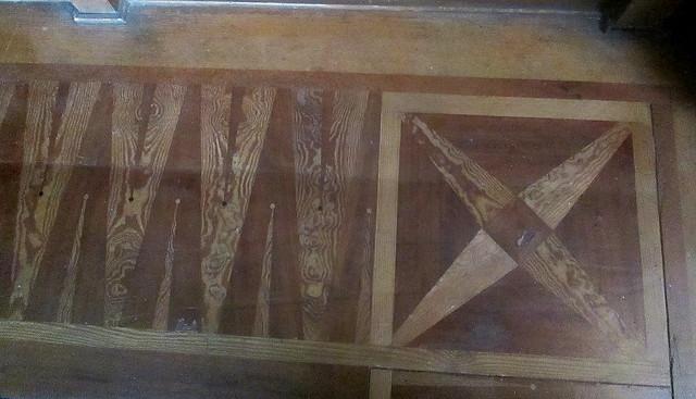 Upstairs room wooden floor