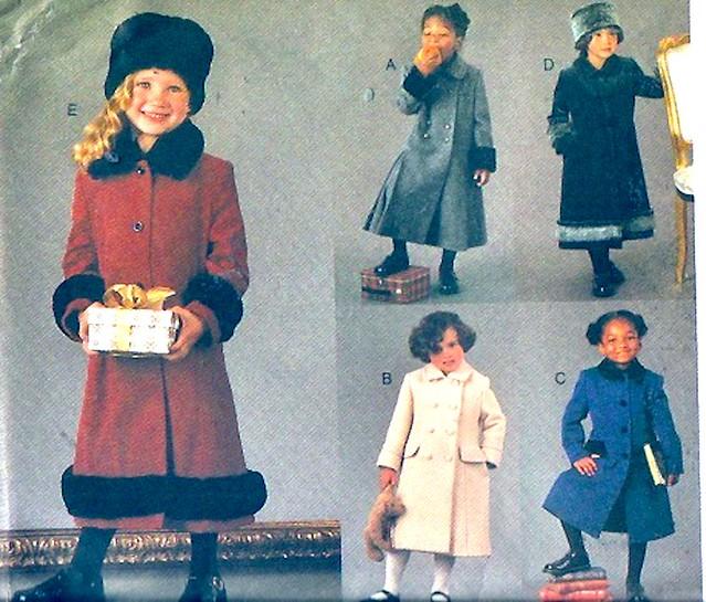 Vogue 7368 coats girls