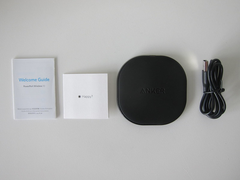 Anker PowerPort Qi 10W Wireless Charger - Box Contents