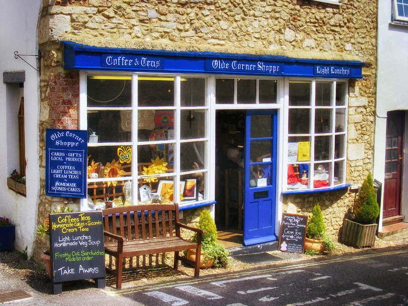 Olde Corner Shoppe teas and lunches in Coylton, Devon. Credit Sludge G, flickr