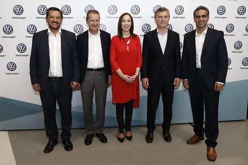 Vazquez,Diess, Vidal, Macri, Di Si