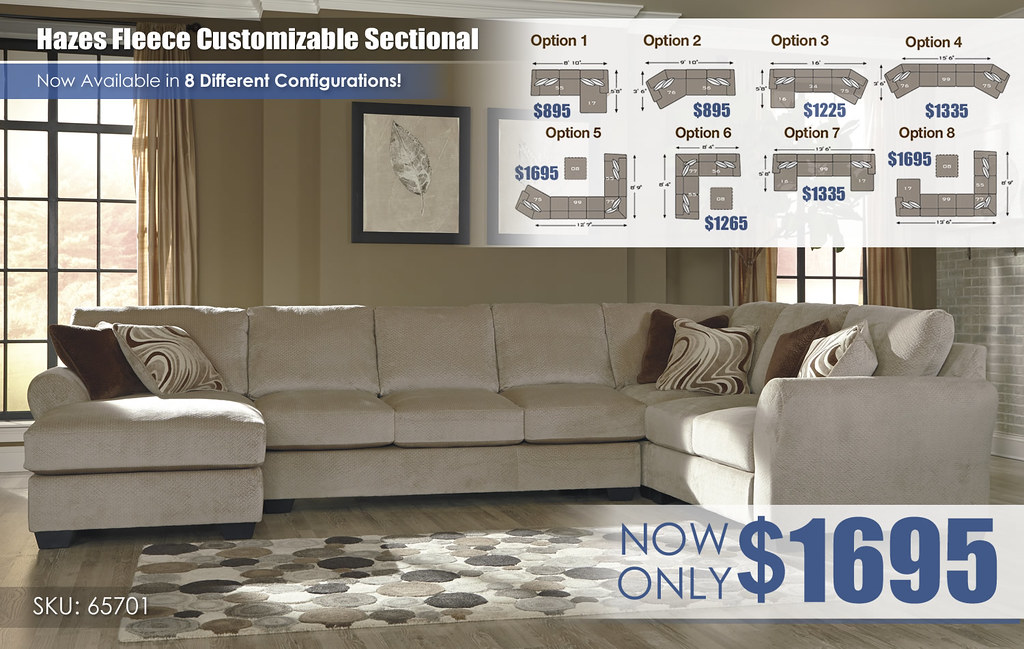 Hazes Fleece Sectional 65701-16-99-77-56