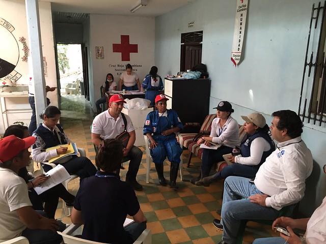 Defensor del Pueblo en Corinto, Cauca, verificando atención a los damnificados por la avalancha