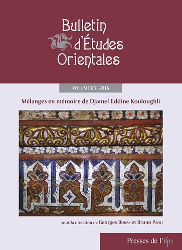 Bulletin d'études orientales (BEO) volume 65 - 2016