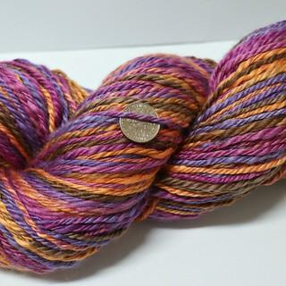 Crocus Merino-silk handspun, close up