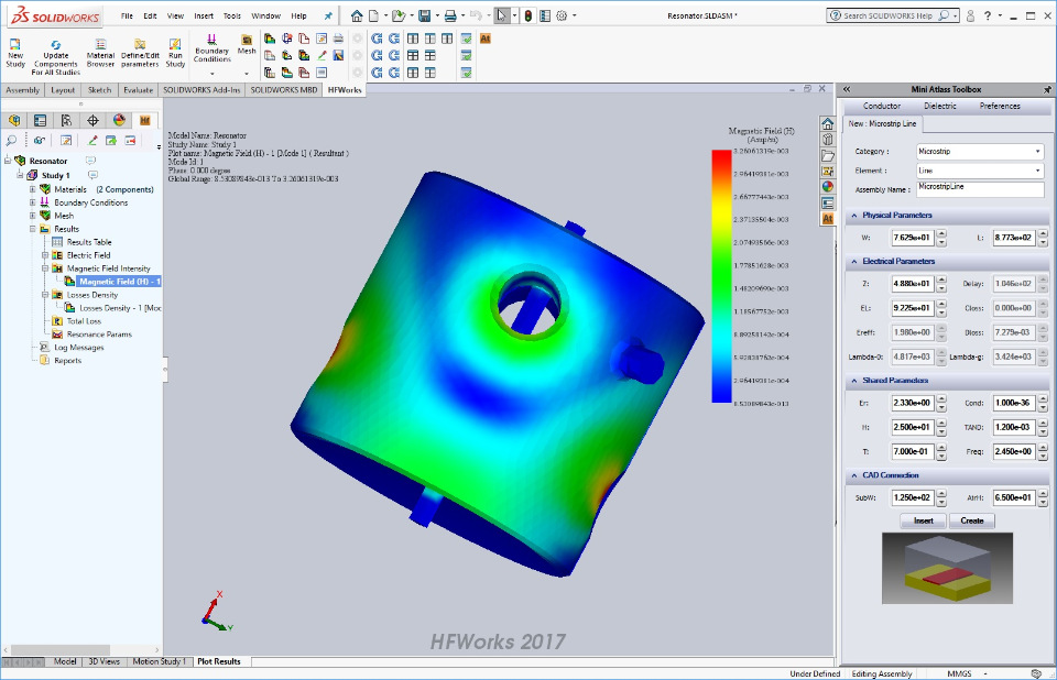 Analysis with EMWorks HFWorks 2017 SP0.2 for SolidWorks 2011-2018 Win64 full