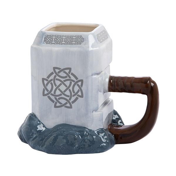 一邊喝飲料還可以一邊放電?! ThinkGeek Marvel【雷神之鎚馬克杯】Thor Mjolnir Ceramic Sculpted Mug
