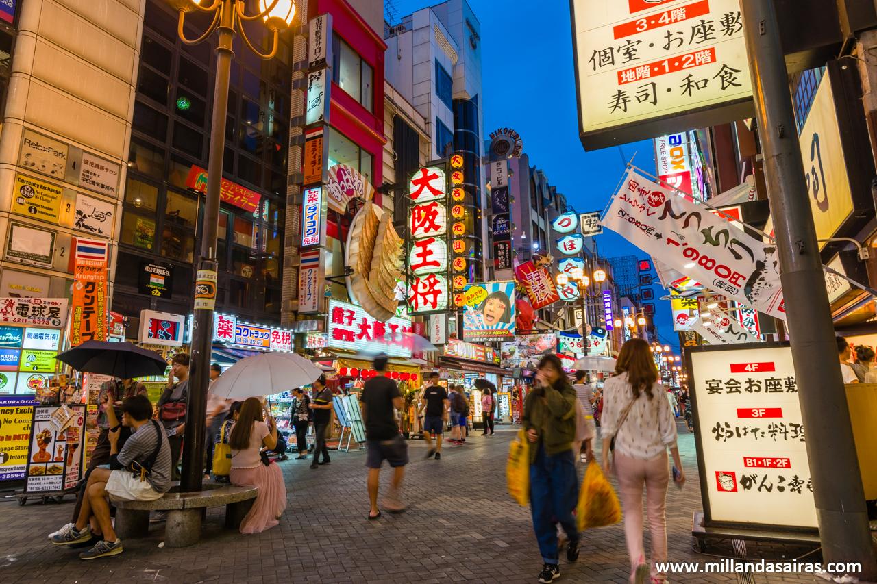 Calle Dōtonbori, en Osaka