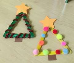Popsicle Stick Chrismas Trees 1