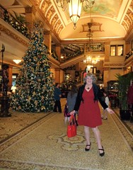 The Lobby Of The Pfister Hotel At Christmastime