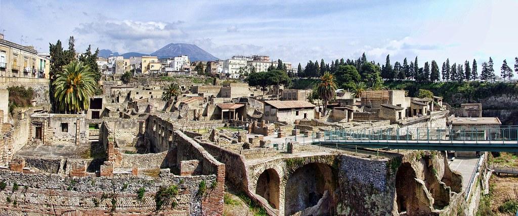Site d'Herculanum, ruines romaines près de Naples.